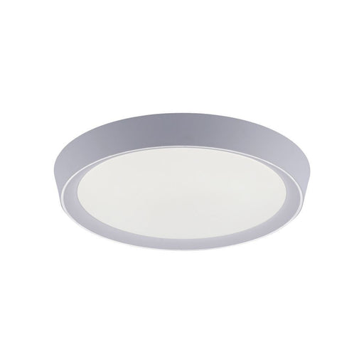 LED ceiling light in round and grey with dimming function