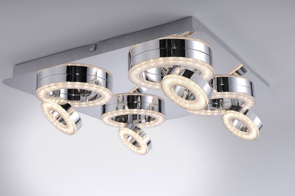Tim LED Crystal Ceiling 8 Light