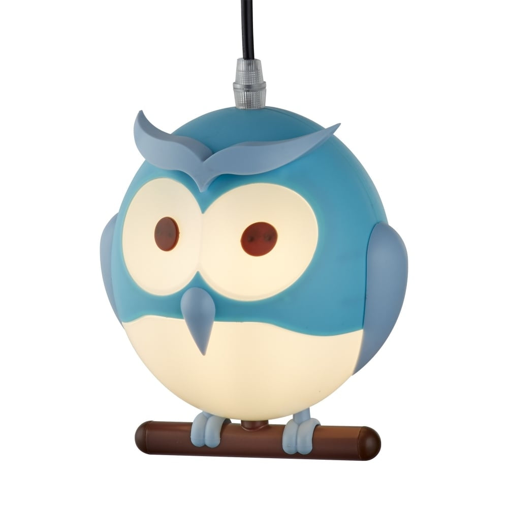 NOVELTY CHILDREN'S OWL PENDANT, BLU