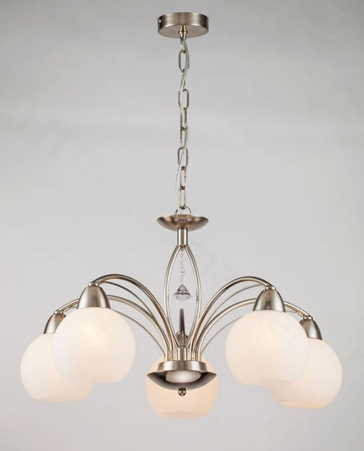 Reality Vanity pendant lamp 5 bulbs nickel