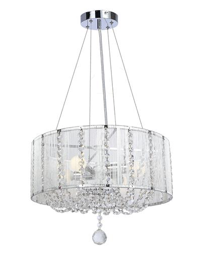 EVATRON HANGING LAMP 4 LIGHT CHROME
