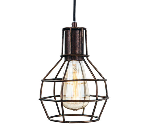 Firstlight Clipper 1 Light Ceiling Pendant Light, Rustic Brown Finish