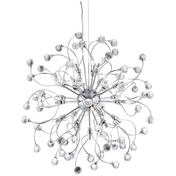 SONJA CHROME 24 LIGHT FITTING WITH SPARKLING CRYSTAL BALLS DECORATION