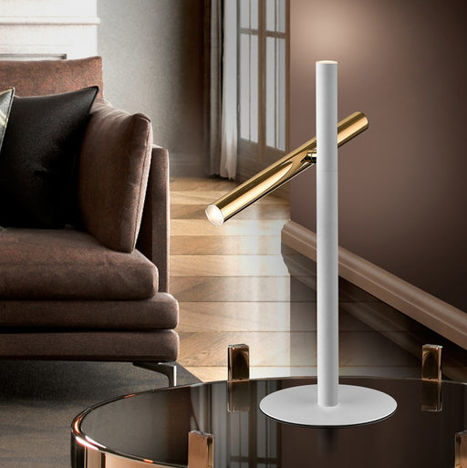 VARAS·TABLE LAMP 2L., GOLD/WHITE