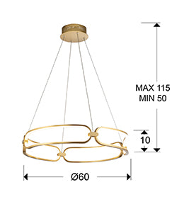 ·COLETTE· LED LAMP, Ø60,GOLDEN