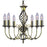 Zanzibar Antique Brass 6 Light Fitting With Ornate Twisted Column