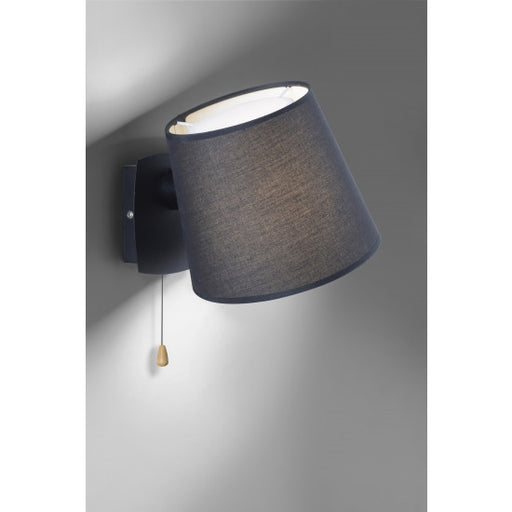 Wall light, black, modern, pull switch