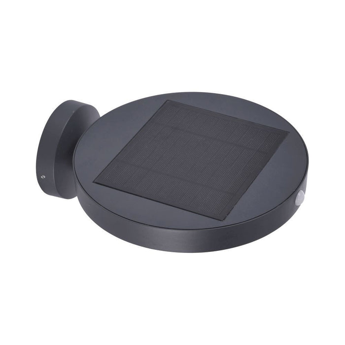 Markus solar panelled anthracite finished wall light.