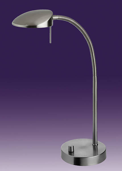 Milan LED 1 Light Brushed Steel Table Lamp
