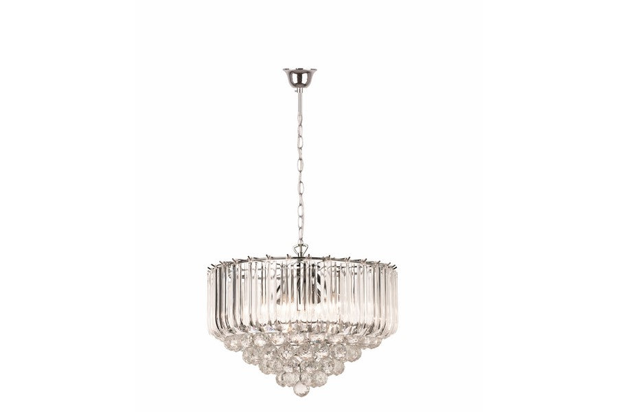 UTAH PENDANT LAMP 5 LAMP CHROME