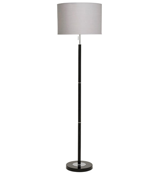 Madaline Floor Lamp - Black | Chrome