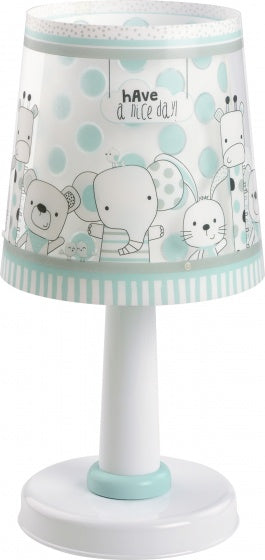 Dalber table lamp Friends 30 cm white / turquoise
