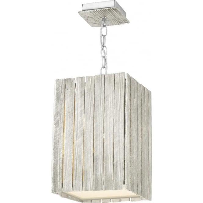 Whistler 1 Light Pendant Small Distressed Silver