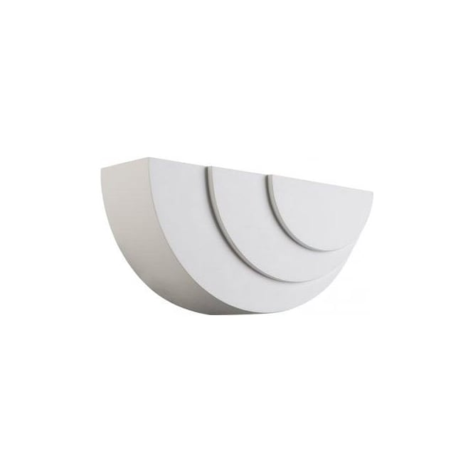 Ripple Single Light LED Ceramic Wall Fitting In White Finish