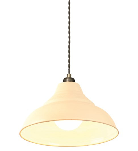 Vintage Pendant Shade - Cream