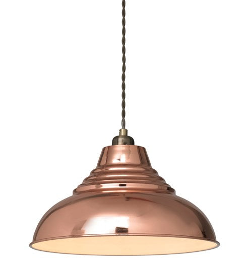 Vintage Pendant Shade - Antique Copper