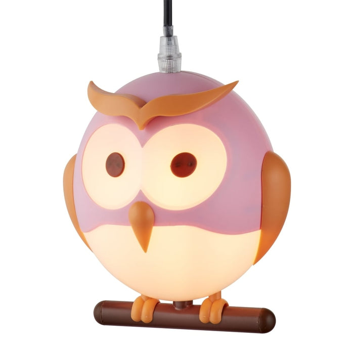 NOVELTY CHILDREN'S OWL PENDANT, PINK
