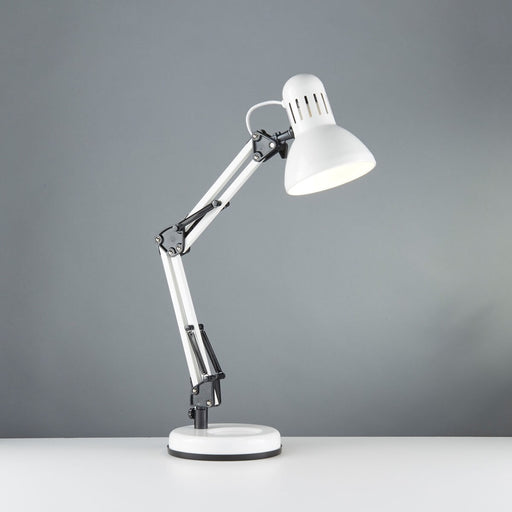 2429WH SHINY WHITE HOBBY TABLE LAMP ADJUSTABLE