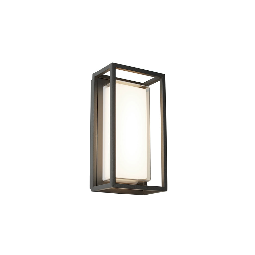 OHIO BLACK OUTDOOR DIE CAST ALUMINIUM WALL LIGHT 3831GY