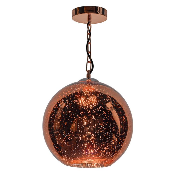 Speckle 1 Light Electro Plated Pendant Copper Finish