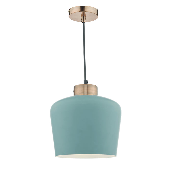 Sullivan 1 Light Pendant Blue Green/ Copper