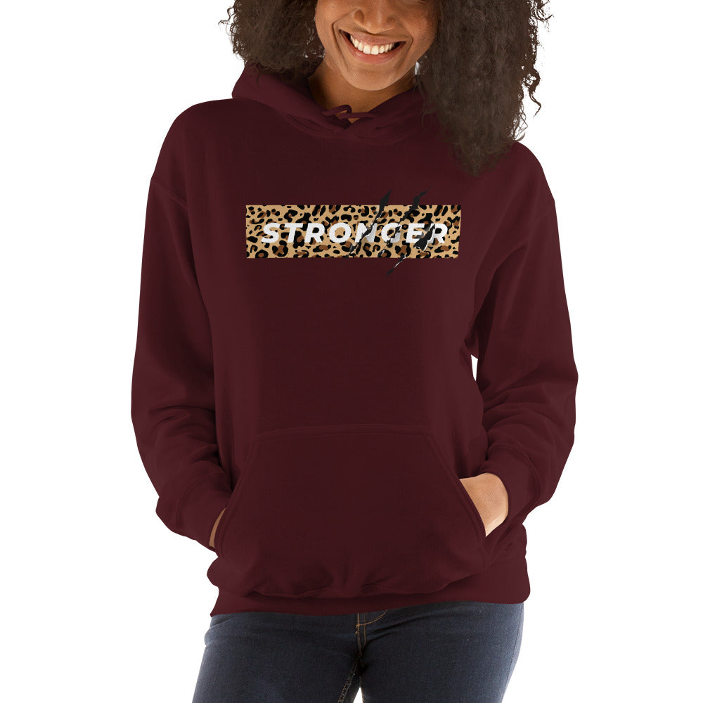 Stronger- Women's Hooded Sweatshirt