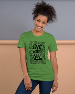 Live Your Best Life-Short-Sleeve Women's T-Shirt