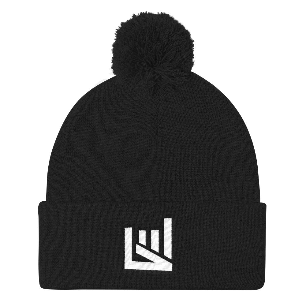 Motivately Warm Sports Pom Pom Knit Cap
