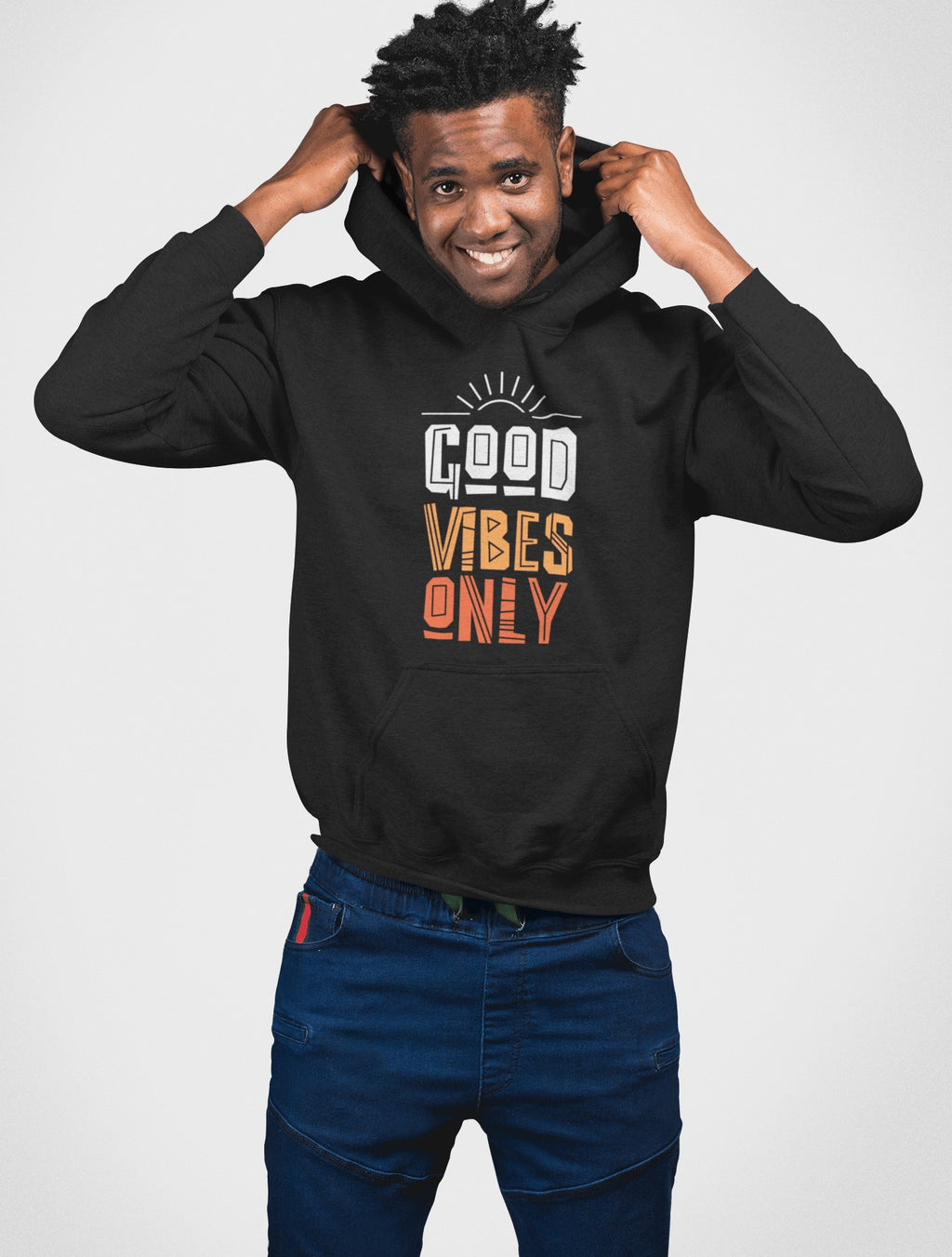 Good Vibes Only - Hooded Motivately Sweatshirt