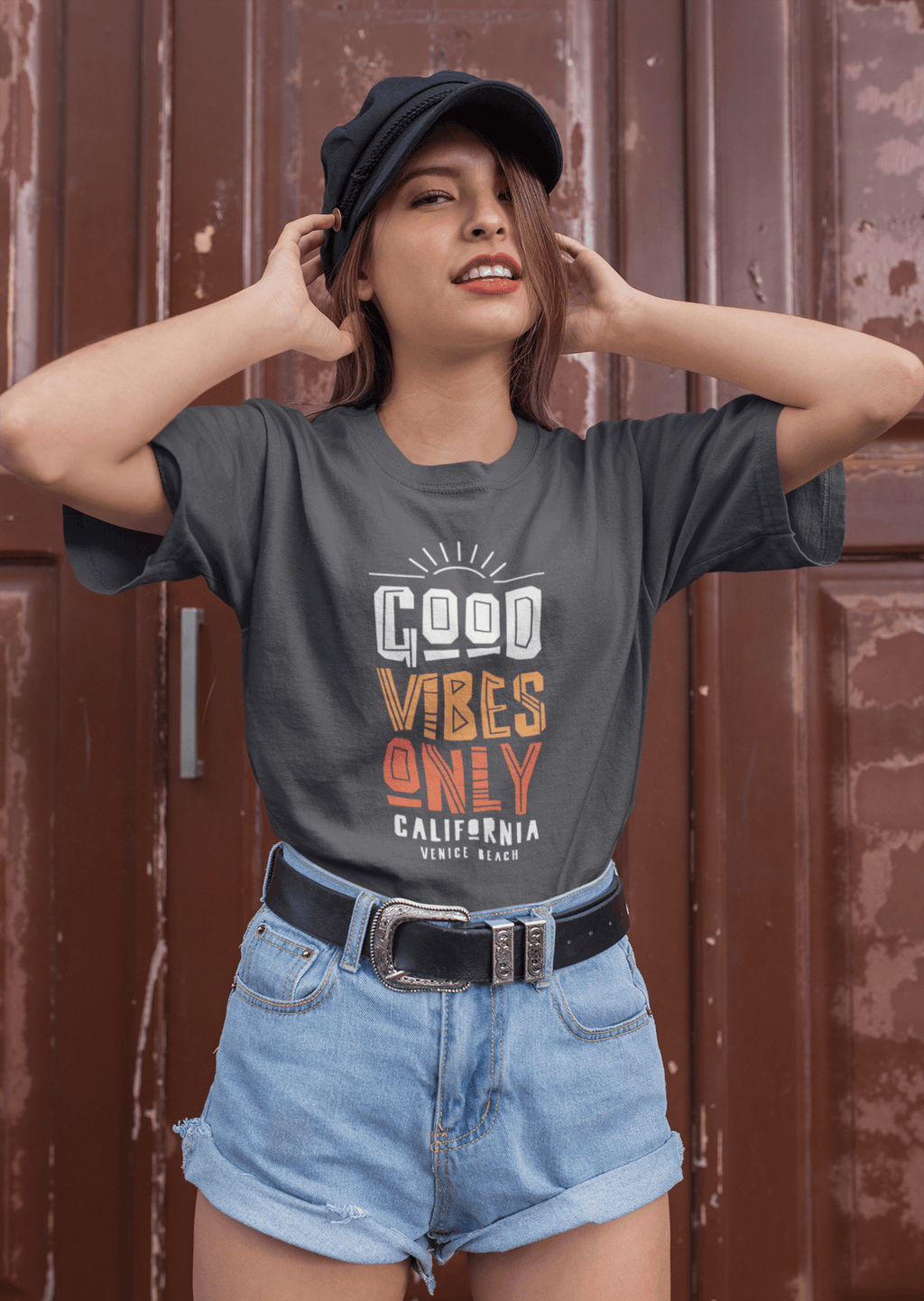 Good Vibes Only- Women's Short-Sleeve T-Shirt (Cali Edition)