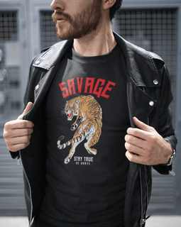 Savage- Stay True, Be Brave- Men's Short Sleeve T-Shirt