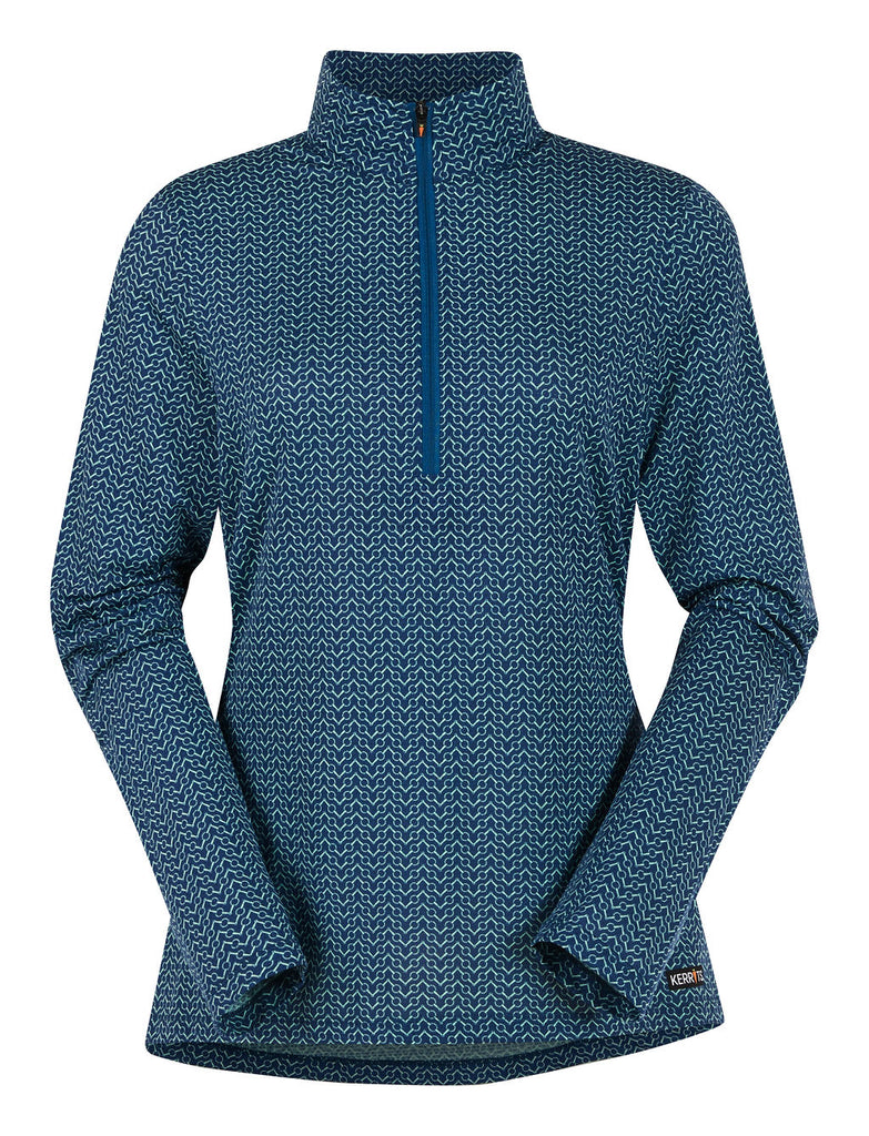 NEW Ice Fil® Lite Long Sleeve Riding Shirt - Print Sapphire