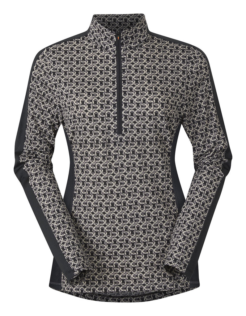NEW Cool Ride Ice Fil Long Sleeve Shirt - Black Hoof Links Print
