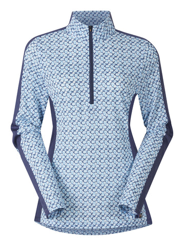 NEW Cool Ride Ice Fil® Long Sleeve Shirt - Print Color: Skylight Hoof Links