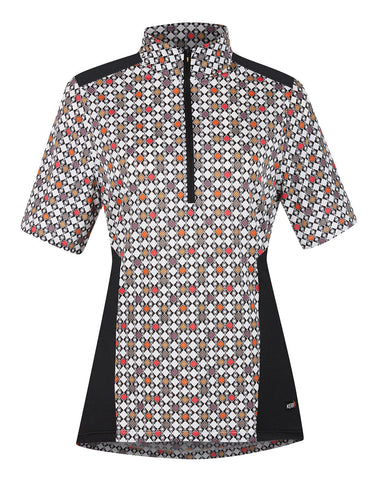 Ice Fil® Lite Short Sleeve Riding Shirt - Print Poppy Deco Bits