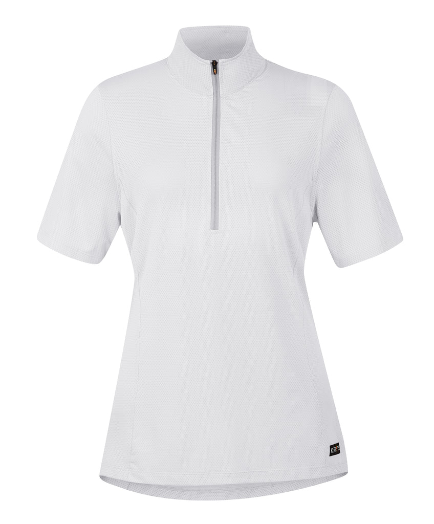 Ice Fil® Lite Short Sleeve Riding Shirt - Solid White