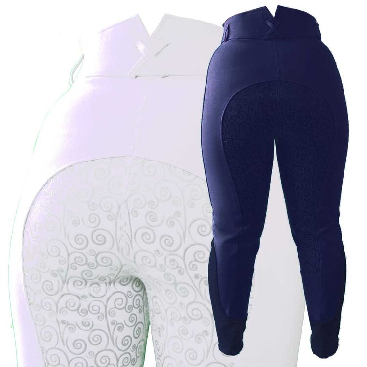 Sticky Vicki Breeches by Fuller Fillies WHITE and NAVY