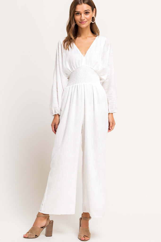 Wind Down White Jumpsuit
