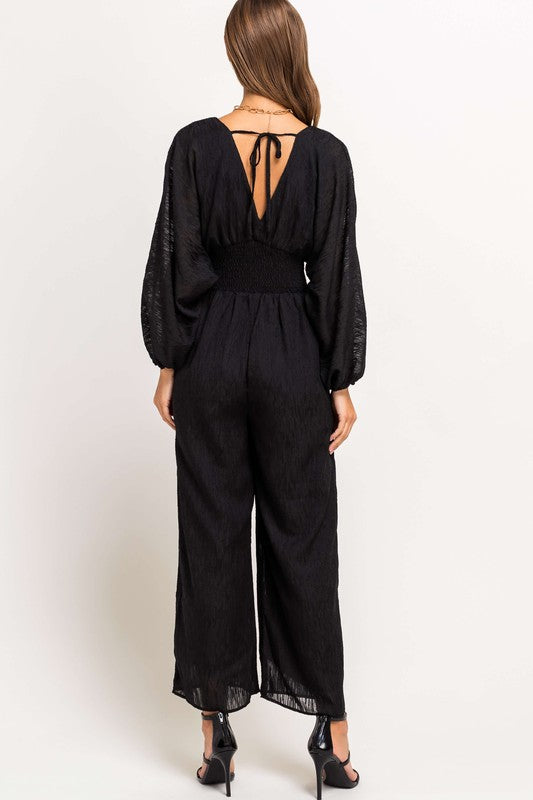Wind Down Black Jumpsuit