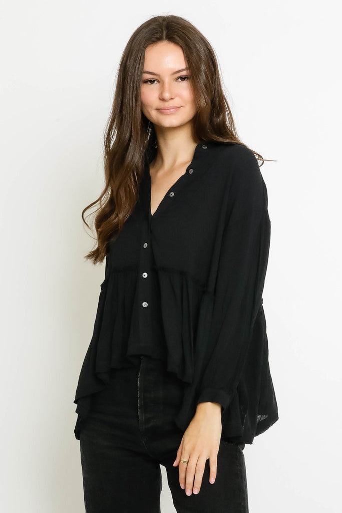 Austin Black Blouse