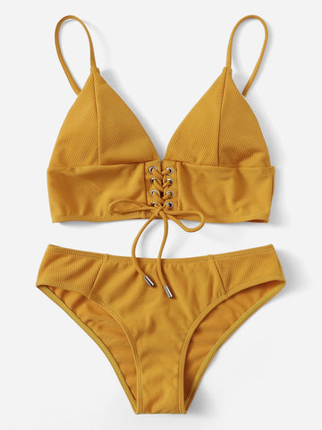 Cabo Sunrise Striped Bikini Set