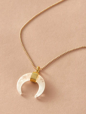 Round Charm Layered Necklace