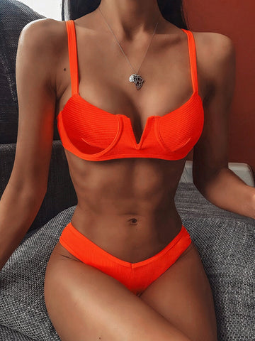 Jenna Red Bikini Set
