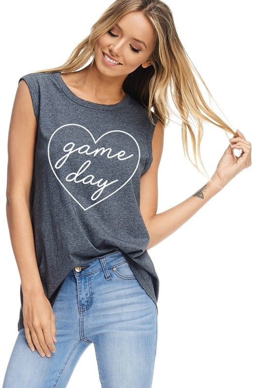Game Day Love Graphic Top