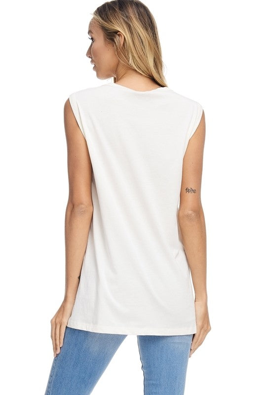 Game Day Love Ivory Graphic Top