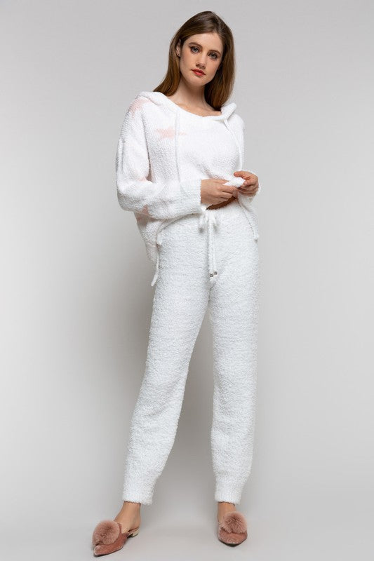 Cozy Knit White Pants
