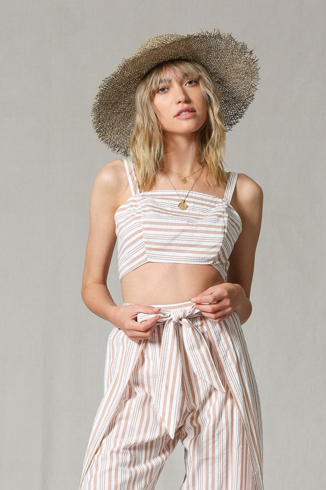 Herringbone Crop Top