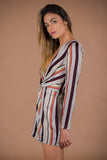 Cosmos Striped Twist Dress