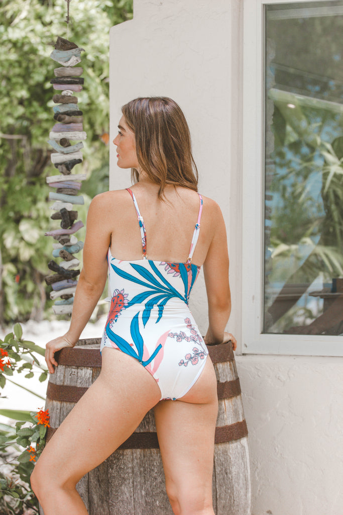 Kalina White Floral One Piece