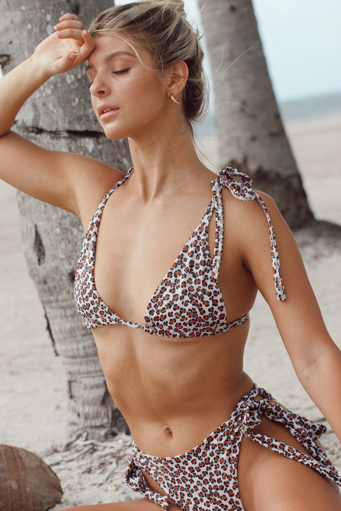 Cabana Top - Red Leopard